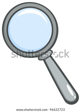 Grey Magnifying Glass. Jpeg version also available in gallery. - stock vector
