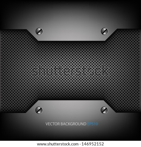 grey metal background for text and message design sample text modern technology website metal pattern design - stock vector