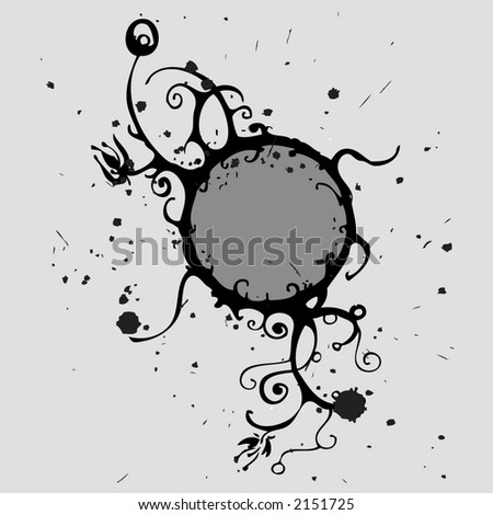 grey ring decoration - stock vector