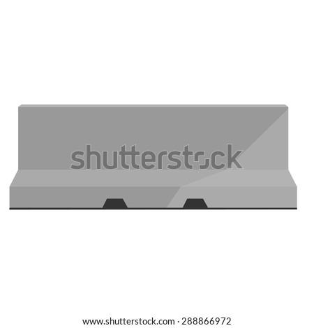 Grey road barrier vector illustration. Traffic barrier. Road block - stock vector