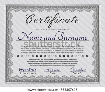 Grey sample certificate background elegant design stock vector 2018 grey sample certificate with background elegant design vector illustration yadclub Choice Image