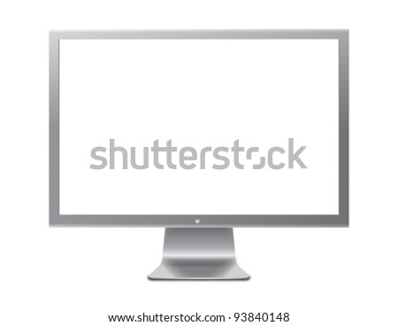 Grey screen - stock vector