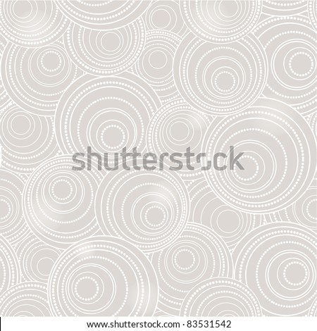 grey seamless circle background - stock vector