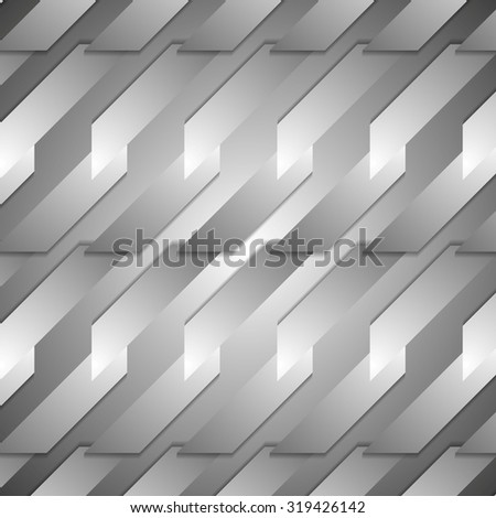 Grey tech geometric background. Vector corporate design