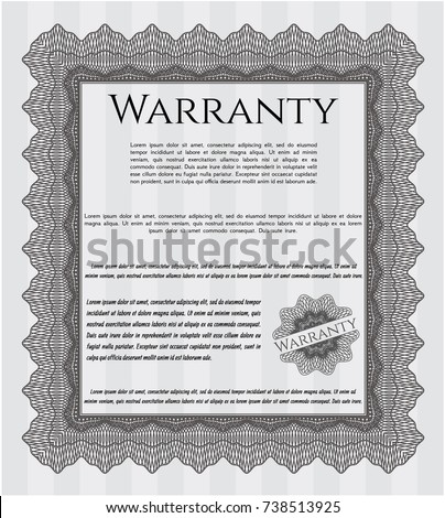 Grey vintage warranty certificate template money stock vector grey vintage warranty certificate template money pattern design complex background detailed yelopaper Images