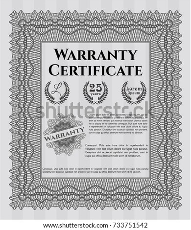 Green retro vintage warranty certificate excellent stock vector grey warranty certificate template money pattern customizable easy to edit and change colors yelopaper Choice Image