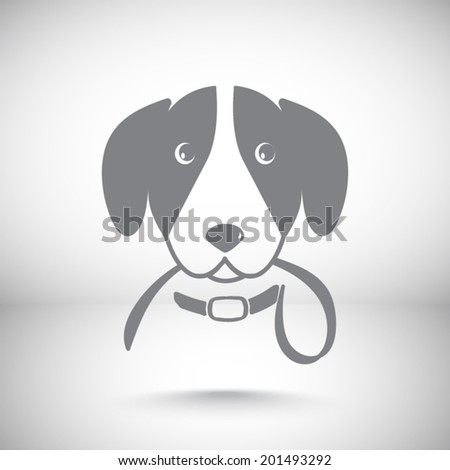 grey web icon, vector illustration. Flat design style - stock vector