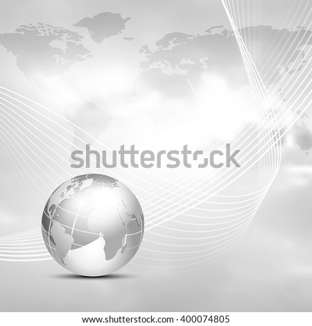 Grey world map background globe global stock vector hd royalty free grey world map background with globe global network connection and communication business concept gumiabroncs Images