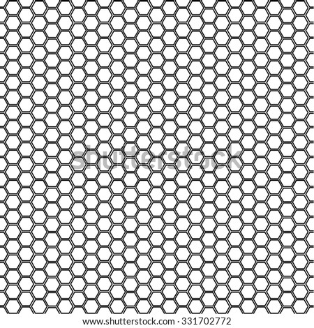 Grid honeycomb background illustration - stock vector