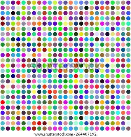 Grid of Random Colored Circles. Seamless Background. EPS8 Vector - stock vector