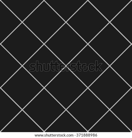 Grid Square Gray Black Background Vector Illustration - stock vector