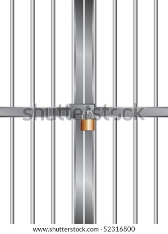 grid with lock - stock vector