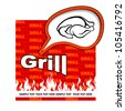 Grill label design. Grill stickers. - stock vector