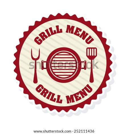 grill menu design, vector illustration eps10 graphic  - stock vector
