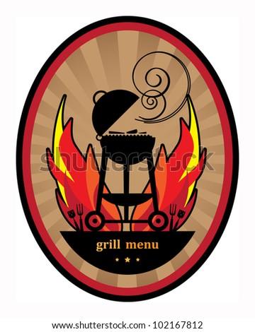 Grill Menu, Vector illustration - stock vector