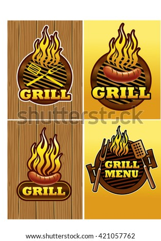 grill template - stock vector