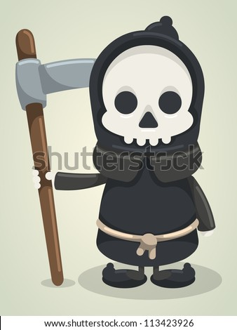 grim reaper, - stock vector