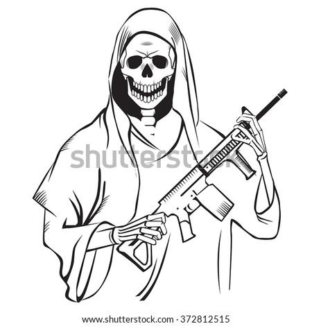 Grim reaper illustration stock vector 2018 372812515 shutterstock grim reaper illustration voltagebd Images