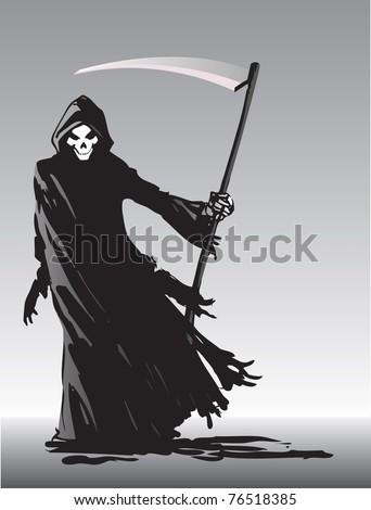 Grim Reaper vector image - stock vector