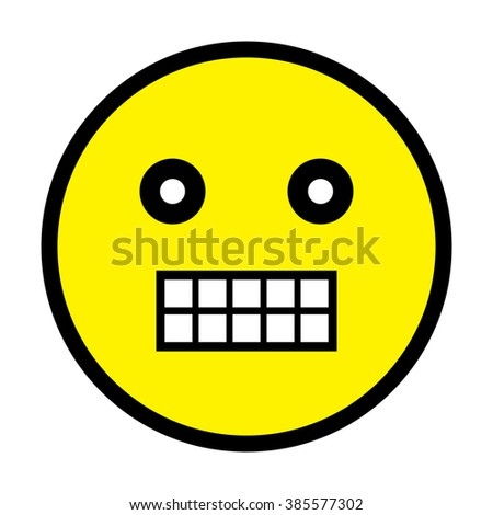 Grinning Face Vector - stock vector