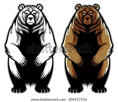 grizzly bear - stock vector