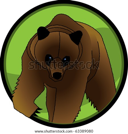 Grizzly Bear Grizzly bear illustration, separated into layers for easy editing. - stock vector