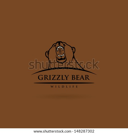Grizzly bear - vector illustration - stock vector