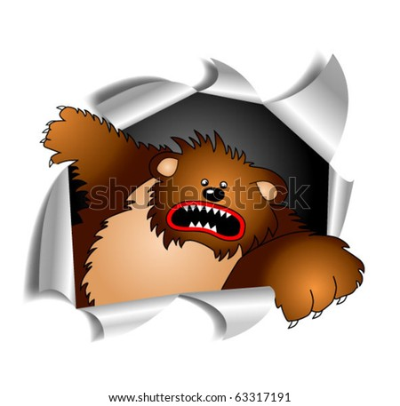Grizzly break on through to the other side - stock vector