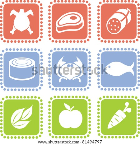 Grocery icons. part I - stock vector