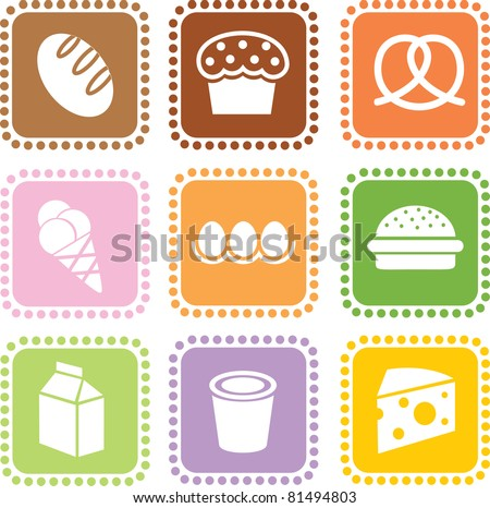 Grocery icons. part III - stock vector