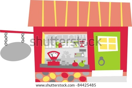 grocery store - stock vector
