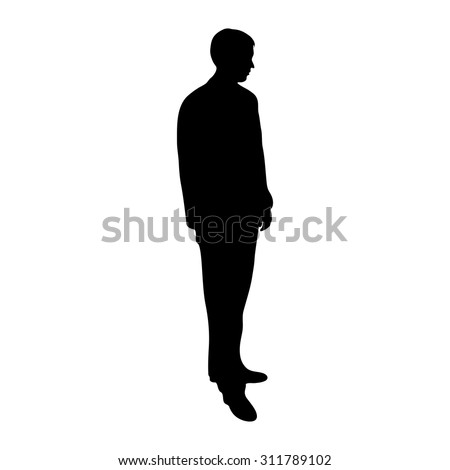 groom on a white background silhouette - stock vector