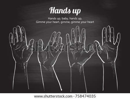 naked people reaching hands
