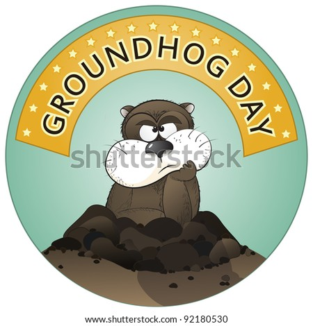 Groundhog Day - stock vector