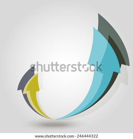 Group arrows. Vector illustration - stock vector