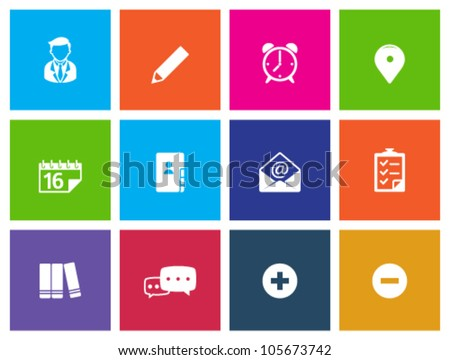 Group collaboration icon series in metro style. - stock vector