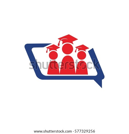 group educational insurance graduation people chat logo design