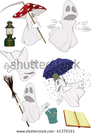 Group evil spirits - stock vector
