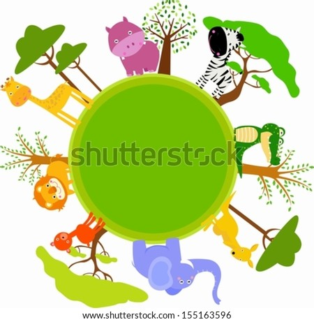 Group of animals  - stock vector