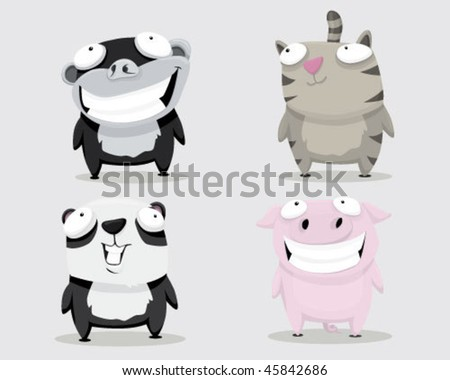 Group of animals. - stock vector