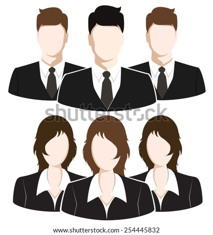Group of Business People. Business Team concept