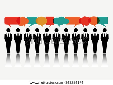 Group of Business People Discussing - stock vector