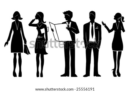 Group of business people. Vector illustration.