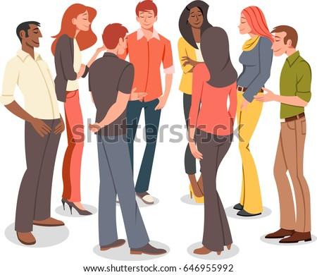 People Speaking Cartoon