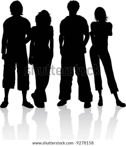 Group of friends - stock vector