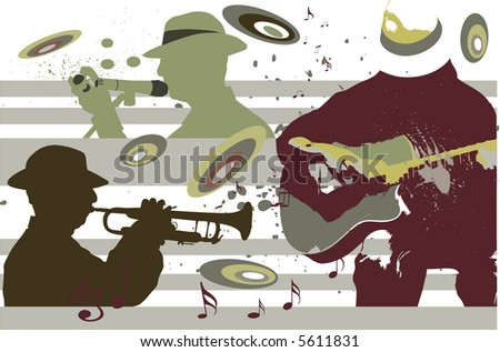 group of musician - stock vector