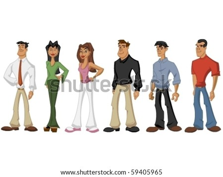 Group of people - stock vector