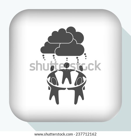 group of people icon - stock vector