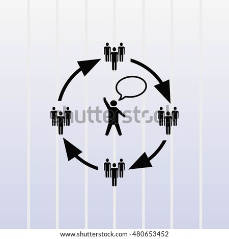 Group of people icon, Friends,  vector illustration