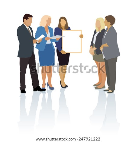 Group of people in the typical business situation